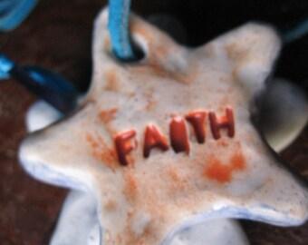 FAITH star pendant