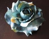 Large light blue teal rose