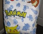 Pokemon Pikachu vintage cartoon sheet messenger bag.