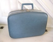 Vintage Luggage  - Small Blue Suitcase
