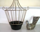 Vintage Bird Cage - Brass and Black