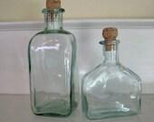 Vintage Blue Green Bottles - Decanters