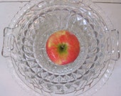 Two Vintage Glass Fruit Bowls - Pressed Glass