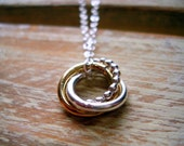 Love Knot Pendant Sterling Silver Chain Love Forever Necklace MADE TO ORDER