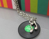Dusty 45s ( A vinyl record necklace)