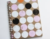 circle notebook no. 2 ... white, pink, orange, and black on kraft