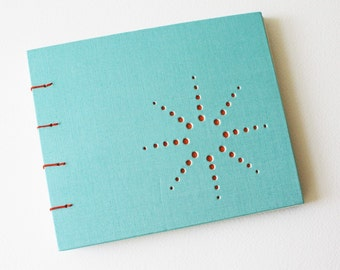 burst design blank journal ... aqua