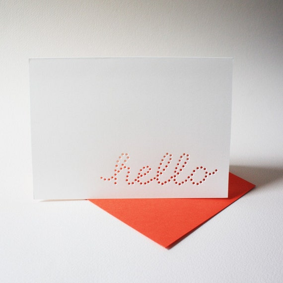 hello cards ... set of 3 blank cards