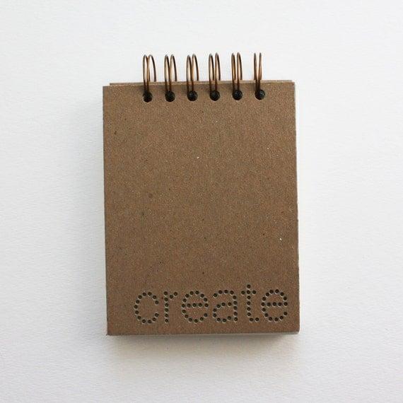 verb notebook : create