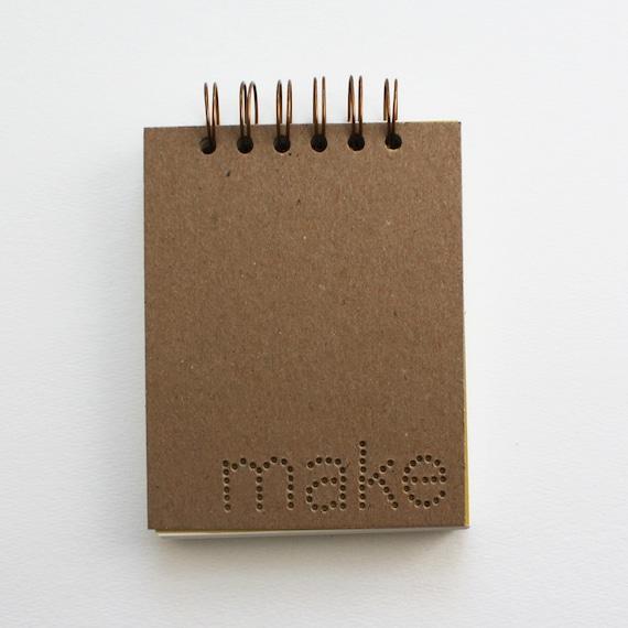 verb notebook : make