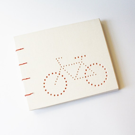 bike blank journal ... off white