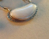 White Beach Stone Necklace in Sterling Silver