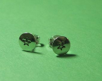 Sterling Stud Tiny Star Earrings