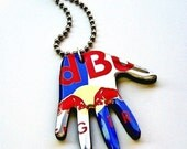 RESERVED for Jessi:  Red Bull Necklace Recycled Aluminum Beverage Can