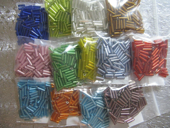 Bugle Bead 13 Color assortment package 100 of Each Color