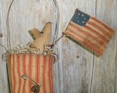 Primitive Mouse Flag Stocking