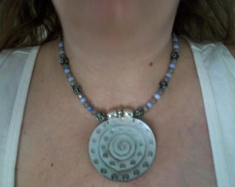 Circle Challenge Necklace - OOAK Abalone Focal