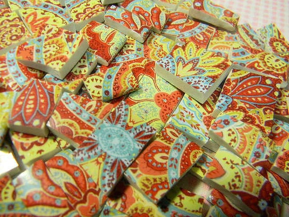 China Mosaic Tiles - I'M CRaZY ABoUT THiS PAiSLEY - Broken Plate Tiles