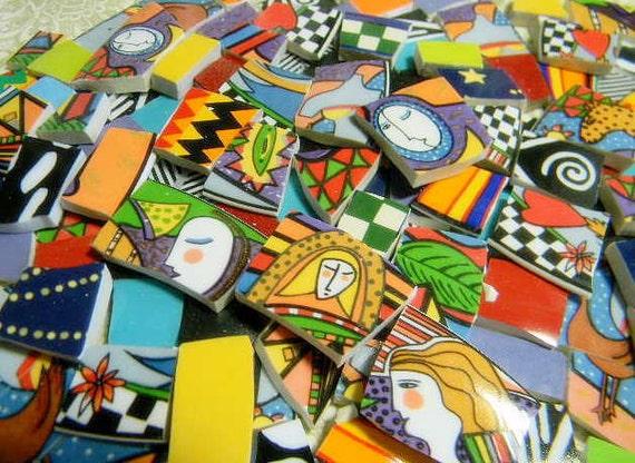 China Mosaic Tiles - ArTSY METROPOLITAN - Repurposed China Plate Tiles