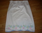 Reserved for aWhimsy- Vintage Embroidered Pillowcase Long Skirt