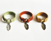 Feather Suede Charm Ring  - Choose Your Color
