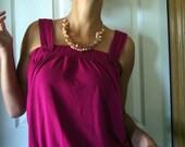 SALE Springtime Gemstone Cluster Pink Necklace