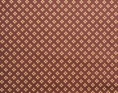 Brown and Tan Vintage Calico Fabric