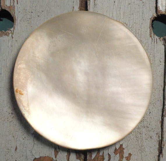 Extra Large Vintage Iridescent Shell Button 1 3/4 in.