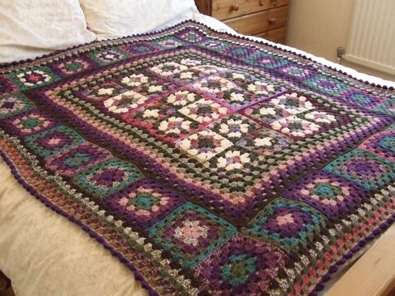 Gorgeous Fall / Autumnal Crochet Lap Throw / Afghan / Blanket