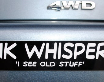 Junk Whisper Bumper Sticker