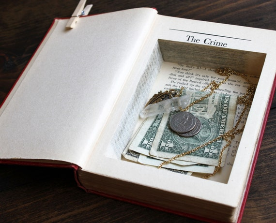 hollow book safe ''the crime at the conquistador'' - secret stash book