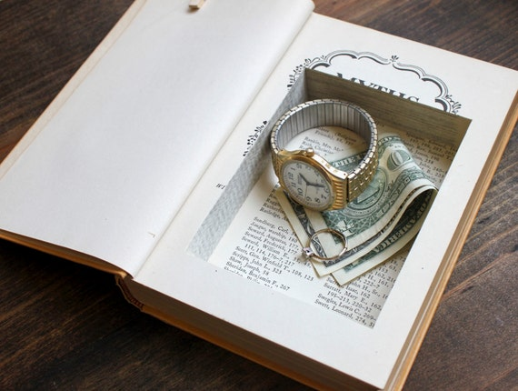 hollow book safe ''myths after lincoln'' - secret stash book - perfect for dads this father's day