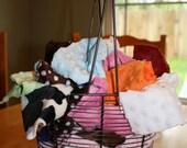 LARGE Minky Fabric Scrap Bag