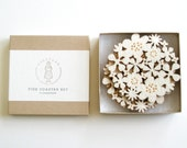 Flower Coasters Set of 4 - White - decoylab