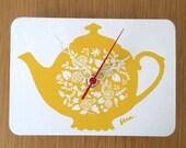 Mini Wall Hanging Clock - Tea Pot
