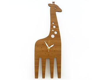 Giraffe Wall clock -  Animal clock - Wall Clock for kids - decorative clock - safari theme - Wall art