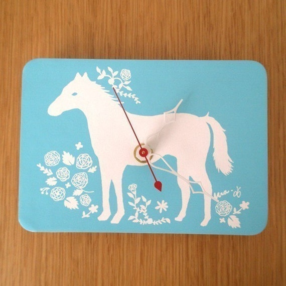 Mini Wall Hanging Clock - Horse