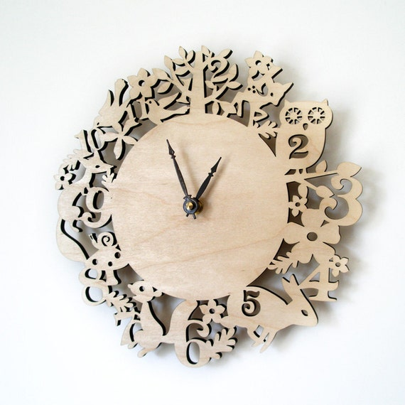 Modern Wall Clock It S My Forest Maple Wood