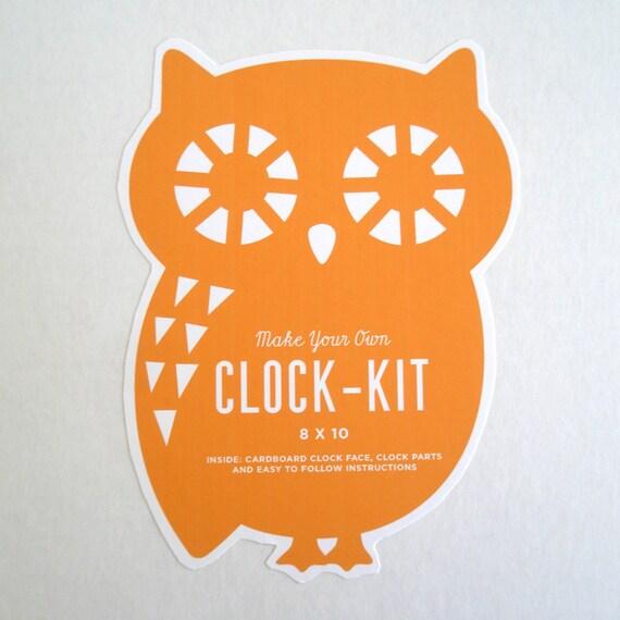 Cardboard Clock Kit - Buddy Owl SALE