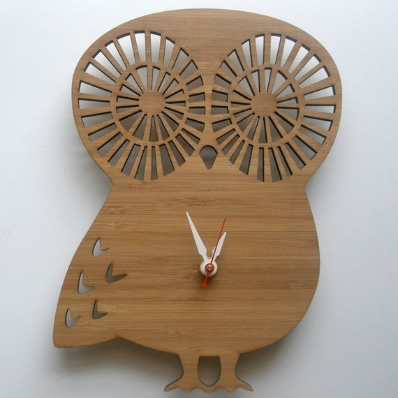 Modern Animal Clock - Owl
