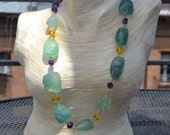 Necklace: Fluorites, Citr...