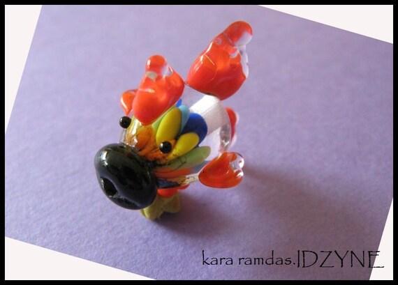 Rainbow Implosion Fish Focal Bead