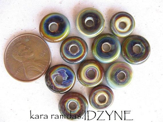 Artifacts -Raku Mini Lampwork Discs