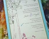 Vintage Lacy Tree Wedding Invitation -  Samples, Flowers galore