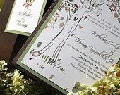 Vintage Lacy Tree Wedding Invitation - Samples,  Fall Harvest