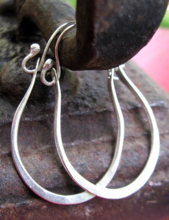 Lovely Loop Hinged Earrings in Sterling Silver