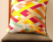 Lattice Print Pillow Cover