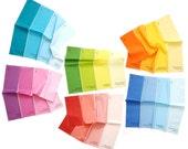 Napkins - Paint Chip Napkins - Set of 6 Colors - bright summer rainbow colours large size