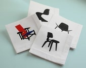 Designer Chairs Cocktail Napkins - Set 1