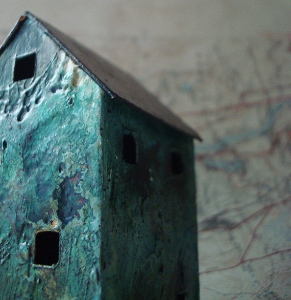 Miniature Abandoned House - sculpture - 3 inches tall